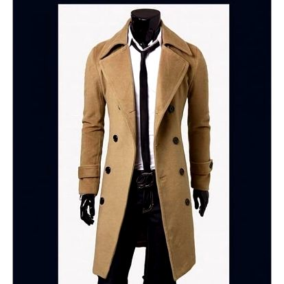 Pánský kabát Giorgio - Béžová-S/M - dodání do 2 dnů