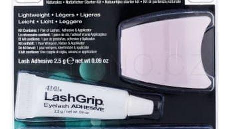 Ardell Natural Babies dárková kazeta pro ženy umělé řasy Natural 1 pár + lepidlo na řasy LashGrip 2,5 g + aplikátor 1 ks Black