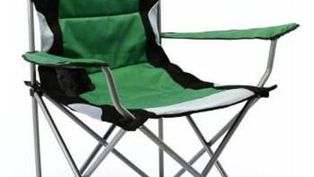 Divero Deluxe 35116 Skládací kempingová rybářská židle - zeleno/černá