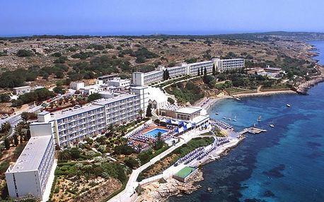 Malta - Mellieha na 8 dní, all inclusive, plná penze nebo polopenze s dopravou letecky z Prahy, 50 m od pláže