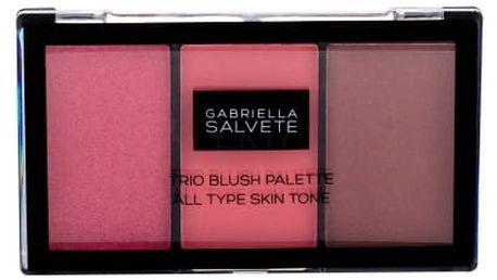 Gabriella Salvete Trio Blush Palette 15 g paletka tvářenek pro všechny odstíny pleti pro ženy