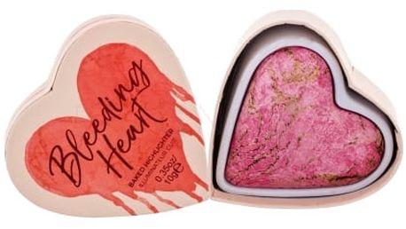 Makeup Revolution London I Heart Makeup Bleeding Heart 10 g zapečený rozjasňovač pro ženy