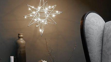 watt & VEKE Závěsná svítící hvězda Polar Small Silver, stříbrná barva, kov