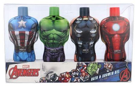 Marvel Avengers dárková kazeta pro děti sprchový gel 4x 75ml - Hulk + Thor + Iron Man + Captain America