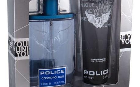 Police Cosmopolitan dárková kazeta pro muže toaletní voda 100 ml + sprchový gel 100 ml