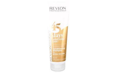 Revlon Professional Revlonissimo 45 Days 2in1 For Golden Blondes 275 ml šampon a kondicionér pro blond vlasy pro ženy