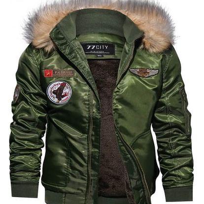 Pánská bunda Mike - Zelená-XL/XXL - dodání do 2 dnů