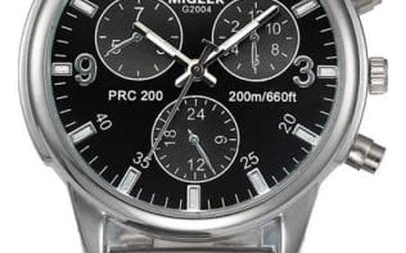 Pánské hodinky v luxusním provedení s černým ciferníkem