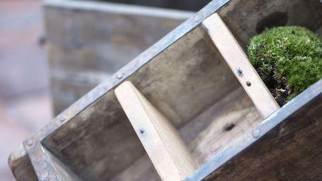 IB LAURSEN Dřevěný box s přihrádkami Brick mould, hnědá barva, přírodní barva, dřevo