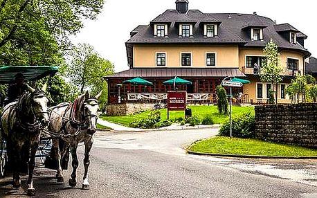 Romantický pobyt v Golf hotelu Morris****, polopenze pro dva s medovo - čokoládovým hýčkáním.