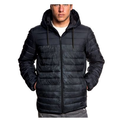 Bunda Quiksilver Scaly Hood Block black L
