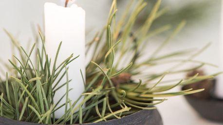 IB LAURSEN Kovový svícen na klasickou svíčku Black, černá barva, kov
