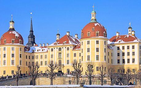 Vlakem na zámek Moritzburg a do Drážďan