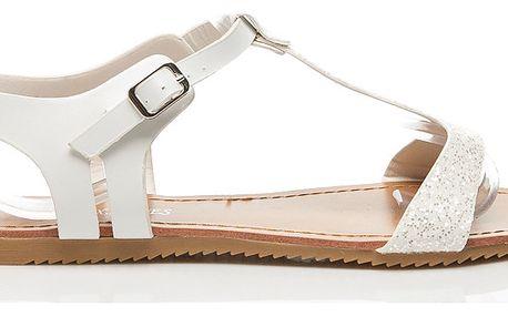 Sboty L. LUX. SHOES Třpytivé sandálky QL-17W Velikost: 36 (23.4 cm)