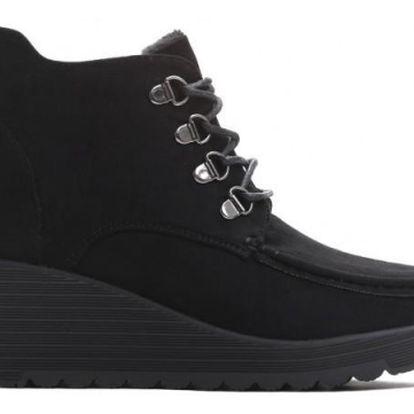 Dámské černé kotníkové boty Elisa 3284