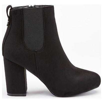 Dámské černé kotníkové boty Central 1101