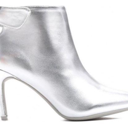 Dámské stříbrné kotníkové boty Nikki 1530