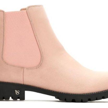 Dámské růžové kotníkové boty Holly 9083