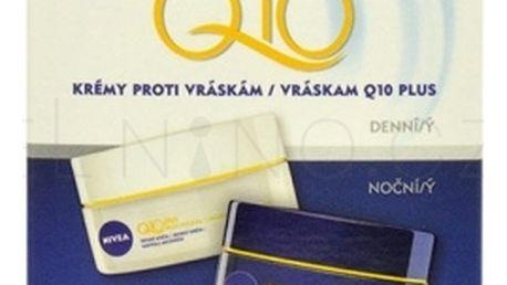 Nivea Q10 Plus dárková kazeta proti vráskám pro ženy denní pleťový krém 50 ml + noční pleťový krém 50 ml