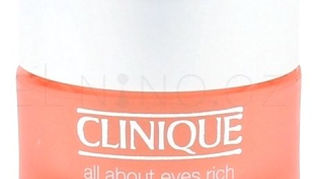 Clinique All About Eyes Rich 15 ml protivráskový oční krém pro ženy