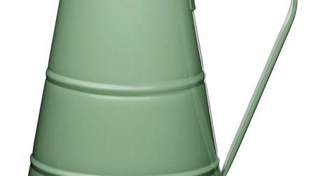 Kitchen Craft Plechový džbán Sage green 2,3 l, zelená barva, kov