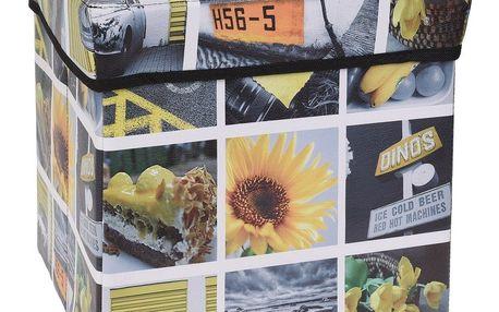 Úložný box Siena žlutá, 30 x 30 x 30 cm