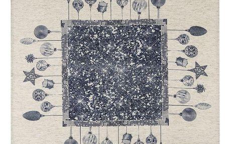 BO-MA Trading Vánoční ubrus Ozdoby, 85 x 85 cm