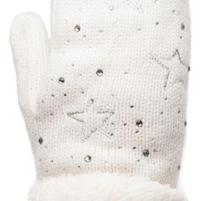 Béžové palcové rukavice Stars