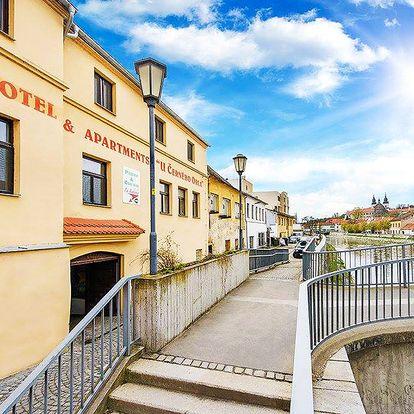 Vysočina v hotelu v Třebíči s neomezeným fitness a polopenzí + varianty se vstupy do památek UNESCO a aquaparku