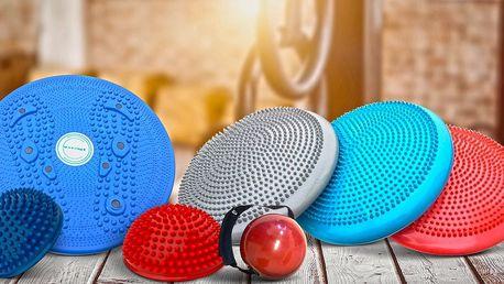 Masážní a balanční disk a další fitness pomůcky