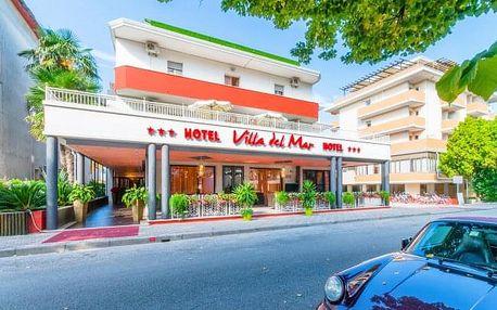 Bibione v Hotelu Villa del Mar *** se snídaní a soukromou pláží na 4 - 8 dní