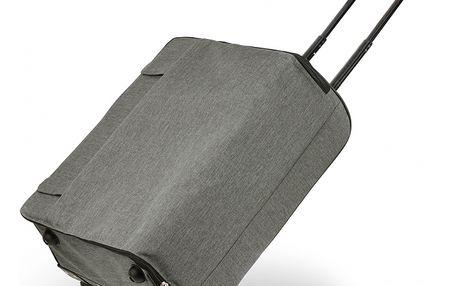 Dámský šedý textilní kufr Alia 0015