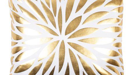 JAHU Polštářek Gold De Lux Květ, 43 x 43 cm