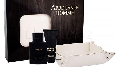 Arrogance Arrogance Uomo dárková kazeta pro muže toaletní voda 100 ml + sprchový gel 75 ml + kožená kapsa