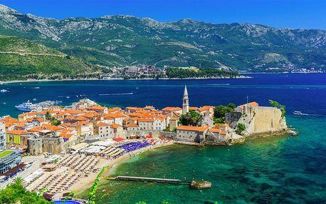 Černá Hora, Budvanská riviéra, letecky na 8 dní snídaně