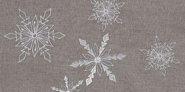 BO-MA Trading Vánoční běhoun Vločky šedá, 40 x 140 cm2