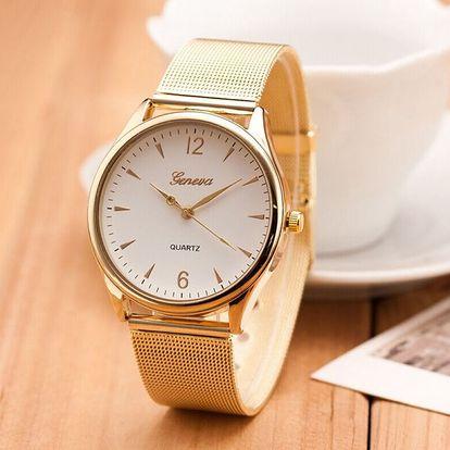 Elegantní dámské hodinky v decentním provedení - 2 barvy