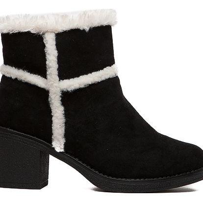 Dámské černé kotníkové boty Erin 1552