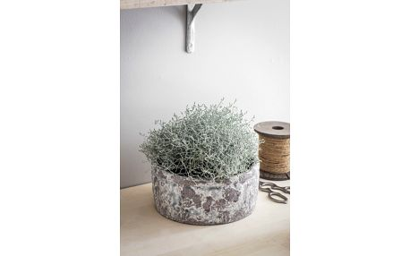 Garden Trading Obal na květiny Withington 24cm, šedá barva, keramika 24,5cmx11cm
