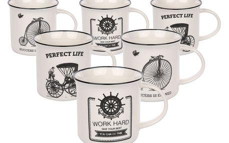 Altom Sada porcelánových hrnků Vintage 225 ml, 6 ks