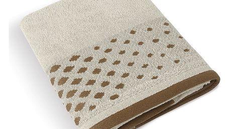 Bellatex Froté ručník Béžová řada Béžová mozaika, 50 x 100 cm