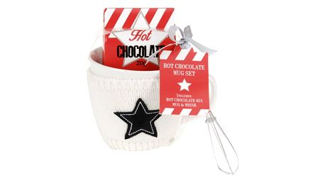 Dárková sada hrnek s čokoládou, bílá, 400 ml