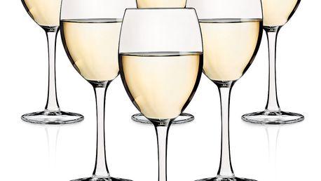 Altom Sada sklenic na bílé víno Diamond 250 ml, 6 ks