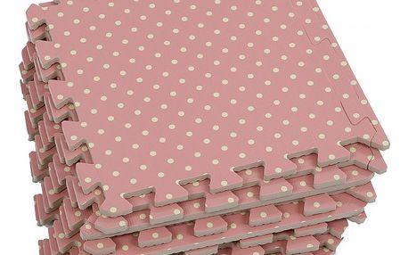 Pěnové puzzle v růžovém provedení