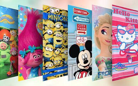 Bavlněné osušky pro děti: Frozen i Mimoni
