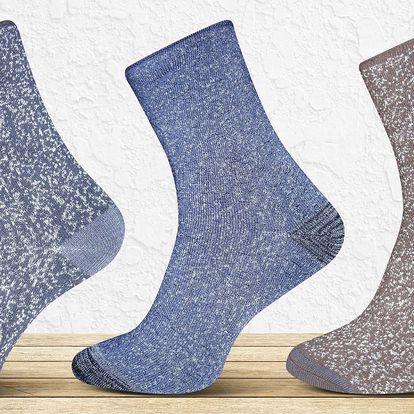 6 párů pánských nebo dámských termo ponožek