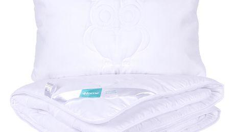 4Home dětský set přikrývky a polštáře Sovička, 90 x 130 cm, 40 x 60 cm