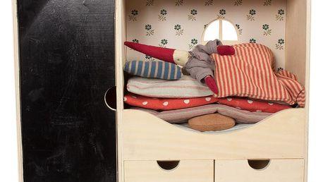 Maileg Dřevěný domeček se skřítkem Pixy, multi barva, dřevo, textil