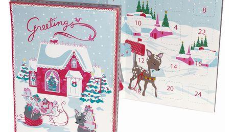 GREEN GATE Adventní čokoládový kalendář Bambi, multi barva