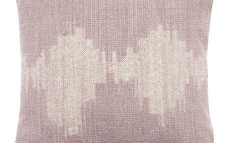 Hübsch Polštář Rose pattern 50x50 cm, růžová barva, béžová barva, textil